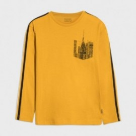 Koszulka z długim rękawem chłopięca Mayoral 7045-84 Żółty