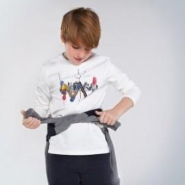 Komplet 2 koszulki dla chłopca Mayoral 7050-31 Śmietanka