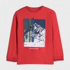 Koszulka z nadrukiem chłopięca Mayoral 7052-49 Czerwony