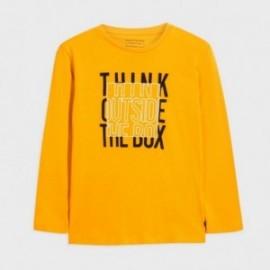 Koszulka z długim rękawem dla chłopaka Mayoral 7060-11 Żółty