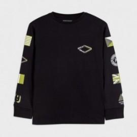 Koszulka z długim rękawem chłopięca Mayoral 7048-86 czarna
