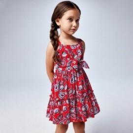 Sukienka z nadrukiem dla dziewczynek Mayoral 3947-3 czerwona