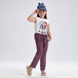 Spodnie z nadrukiem dziewczęce Mayoral 3558-3 Czerwony