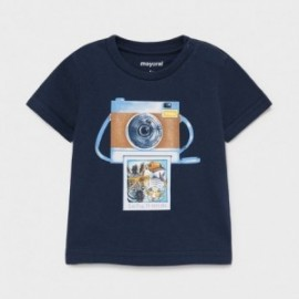 Koszulka z krótkim rękawkiem dla chłopców Mayoral 1003-62 Granatowy