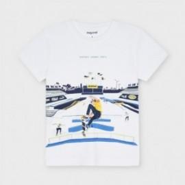 Koszulka z nadrukiem dla chłopców Mayoral 3040-56 Biały