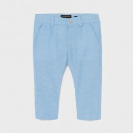 Spodnie lniane chłopięce Mayoral 1581-62 Niebieski