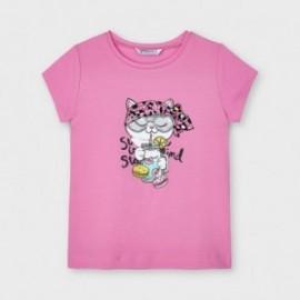 Koszulka z krótkim rękawem dziewczęca Mayoral 3020-13 Różowy