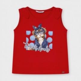 Koszulka na ramiączkach dziewczęca Mayoral 3025-89 Czerwony