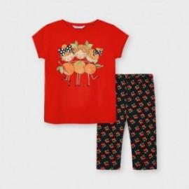 Komplet koszulka i leginsy dziewczęcy Mayoral 3741-44 Czerwony