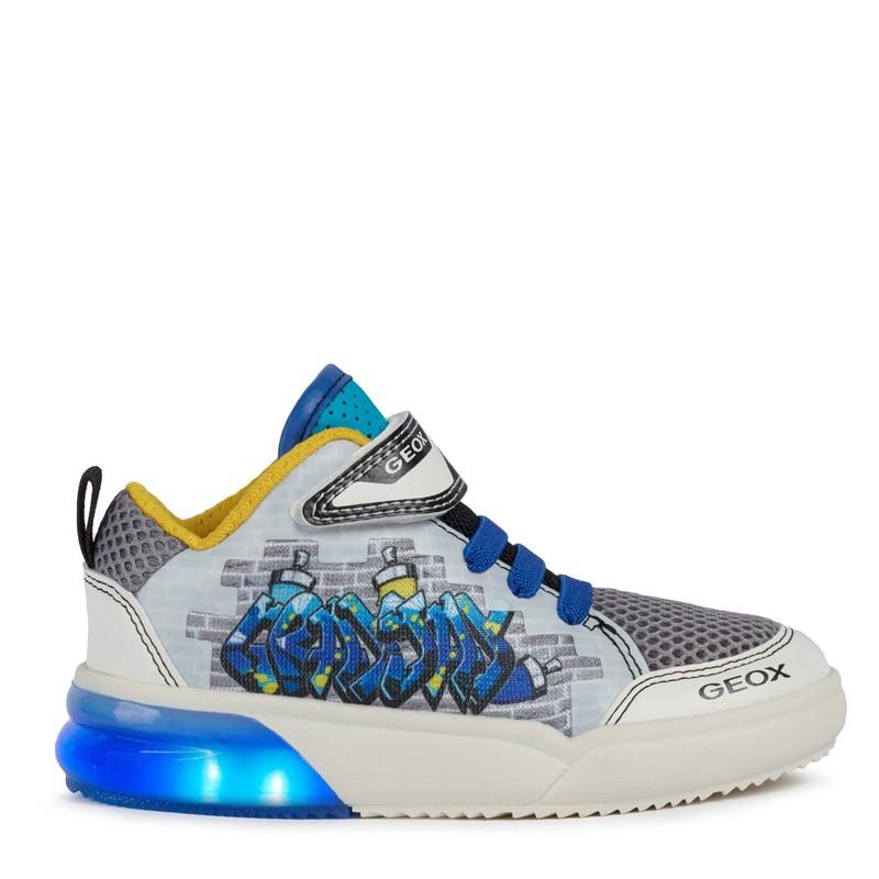 Buty sneakersy dla chłopaka Geox J029YD-014BU-C0293 kolor biały/niebieski