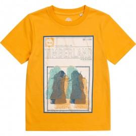 Koszulka z krótkim rękawem chłopięca TIMBERLAND T25R75-565 kolor żółty