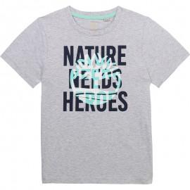 Koszulka z krótkim rękawem chłopięca TIMBERLAND T25R76-A32 kolor szary