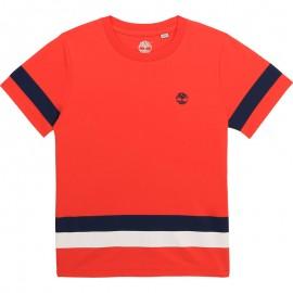 Koszulka z krótkim rękawem chłopięca TIMBERLAND T25R87-42M kolor czerwony