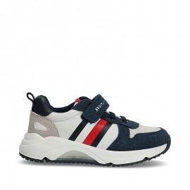 Sneakersy chłopięce TOMMY HILFIGER T1B4-31090-0768X007 kolor niebiesko biały