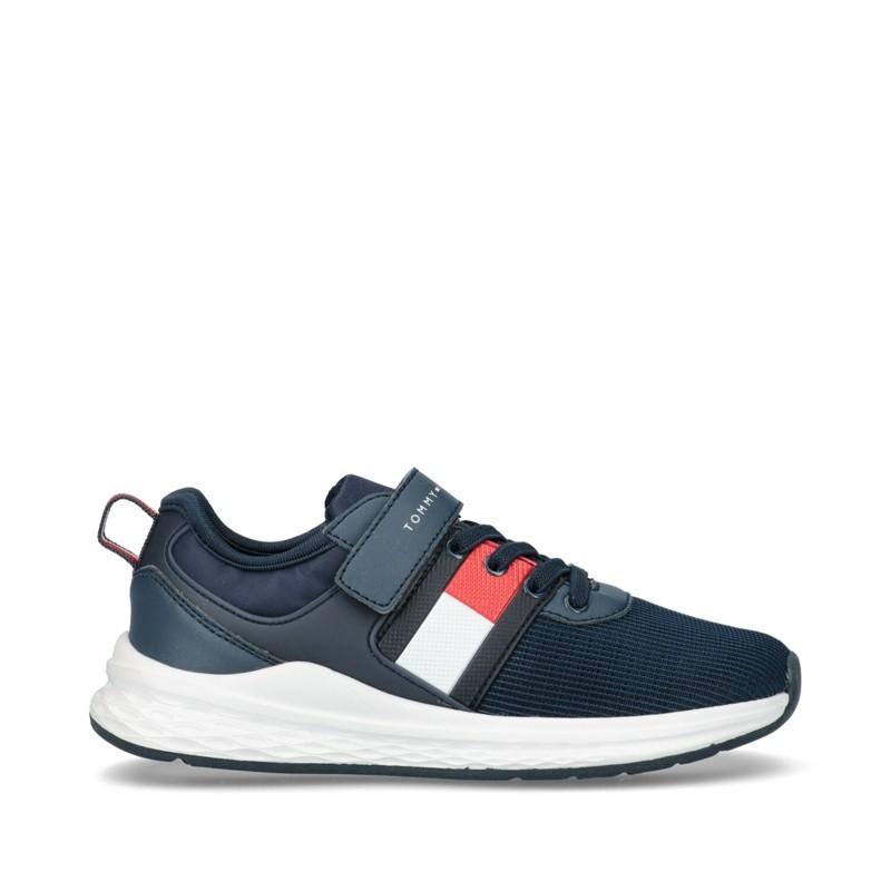 Sneakersy chłopięce TOMMY HILFIGER T3B4-31101-0738800 kolor granat