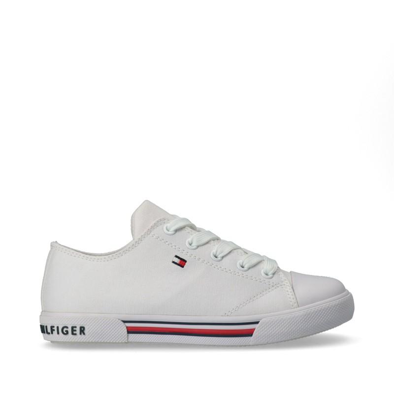 Sneakersy dziecięce unusex TOMMY HILFIGER T3X4-30692-0890100 kolor biały