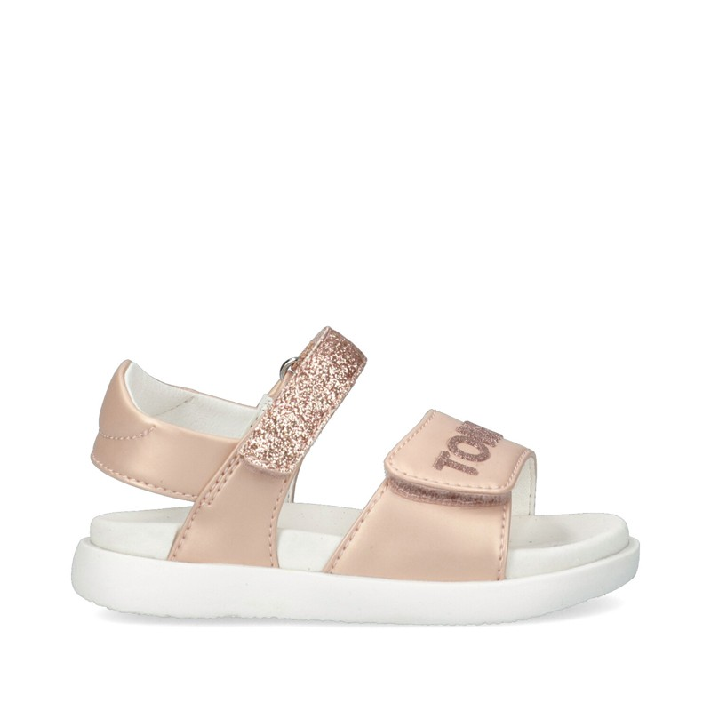 Sandały dziewczęce TOMMY HILFIGER T1A2-31036-0569X122 kolor pudrowy róż