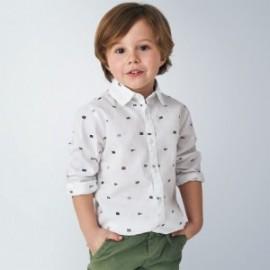 Koszula we wzory chłopięca Mayoral 4141-34 Biały