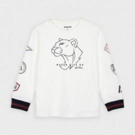 Koszulka z długim rękawem chłopięca Mayoral 4044-48 Śmietanka