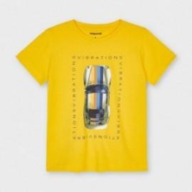 Koszulka z nadrukiem chłopięca Mayoral 3039-39 Żółty
