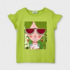 Koszulka z nadrukiem dla dziewczynek Mayoral 3019-26 Zielony