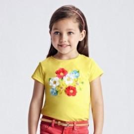 Koszulka z nadrukiem dla dziewczynek Mayoral 3019-29 Żółty