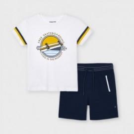 Komplet koszulka i bermudy chłopięcy Mayoral 3644-53 granatowy