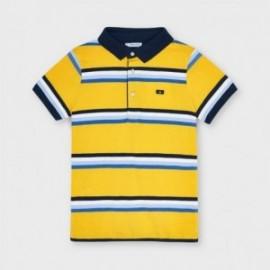 Koszulka polo w paski chłopięca Mayoral 3111-93 Żółty