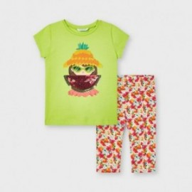 Komplet koszulka i leginsy dziewczęcy Mayoral 3741-47 pistacjowy