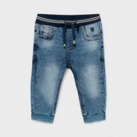 Spodnie joggery jeans chłopięce Mayoral 1584-47 niebieskie