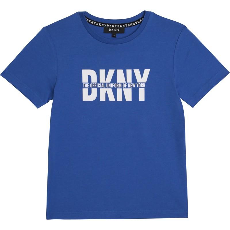Koszulka z krótkim rękawem dla chłopców DKNY D25D26-813 kolor niebieski