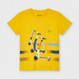 Koszulka z krótkim rękawem chłopięca Mayoral 3037-27 żółty