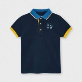 Koszulka polo z krótkim rękawem chłopięca Mayoral 3107-86 Granatowy