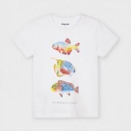 Koszulka z krótkim rękawem chłopięca Mayoral 3036-22 Biały