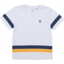 Koszulka z krótkim rękawem chłopięca TIMBERLAND T25R87-10B kolor biały