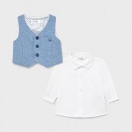 Koszula z kamizelką chłopięca Mayoral 1172-36 biały/błękit