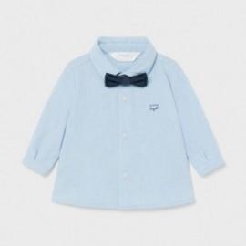 Koszula z długim rękawem i muszką dla chłopców Mayoral 1175-42 błękitna