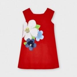 Sukienka z nadrukiem dziewczęca Mayoral 3956-27 Czerwony