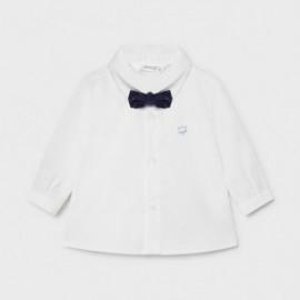 Koszula z długim rękawem i muszką dla chłopców Mayoral 1175-40 biała