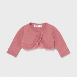 Bolerko trykotowe dla dziewczynek Mayoral 1331-18 różowe