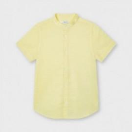 Koszula lniana chłopięca Mayoral 3117-87 żółty