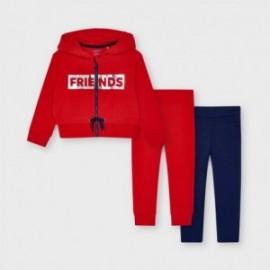Dres 3-częściowy dziewczęcy Mayoral 3825-11 czerwony