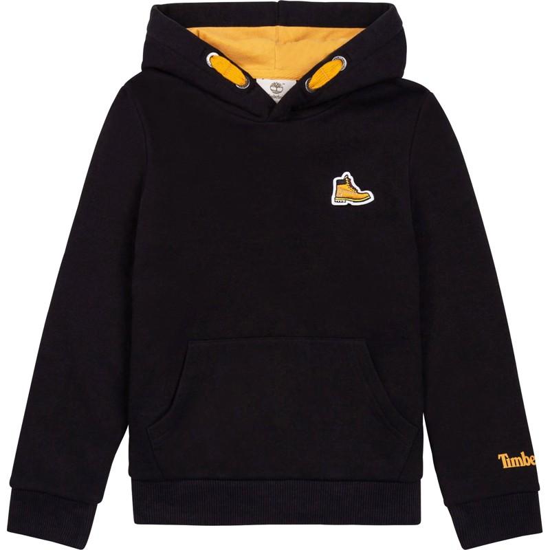 TIMBERLAND T25S76-09B Bluza z kapturem dla chłopców kolor czarny