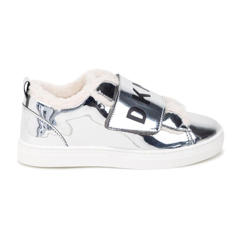 DKNY D39058-16 Sneakersy ocieplane dziewczęce kolor szary
