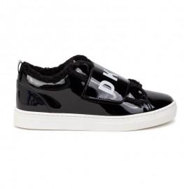 DKNY D39058-09B Sneakersy ocieplane dziewczęce kolor czarny
