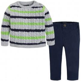 Mayoral 2587-22 Kompl. spodnie serża sweter Granatowy