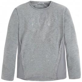 Mayoral 7037-54 Koszulka d/r z aplikacjami Srebrny