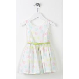 Losan sukienka grochy 616-7761AD kolor biała