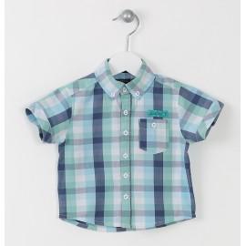 Losan koszula krata 617-3001AC kolor niebieski