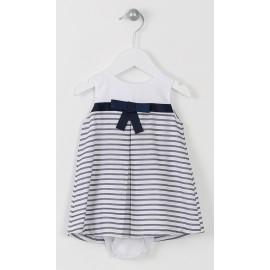 Losan sukienka paski 618-7734AD kolor biały/granat